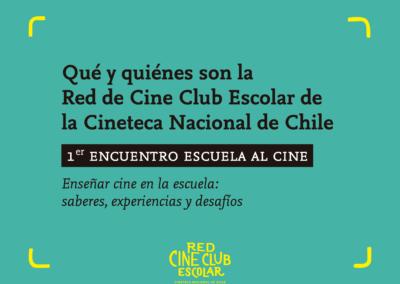 Qué y quiénes son la Red Cine Club Escolar del Programa Escuela al Cine
