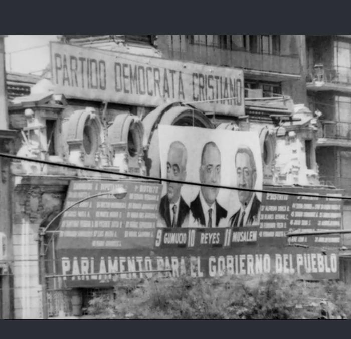 Propaganda de los candidatos en las elecciones parlamentarias de 1965